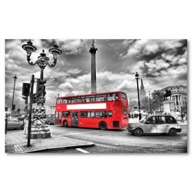 Αφίσα (Λονδίνο, λεωφορείο, δρόμος, κυκλοφορία)